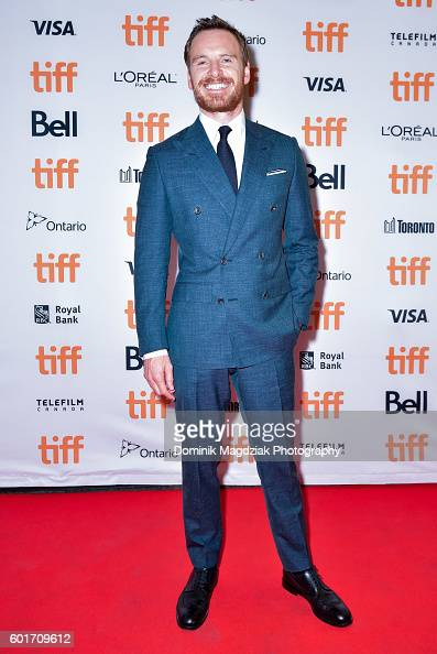 Actor Michael Fassbender attends the 'Trespass Against Us' premiere during the 2016 Toronto International Film Festival at Princess of Wales Theatre...