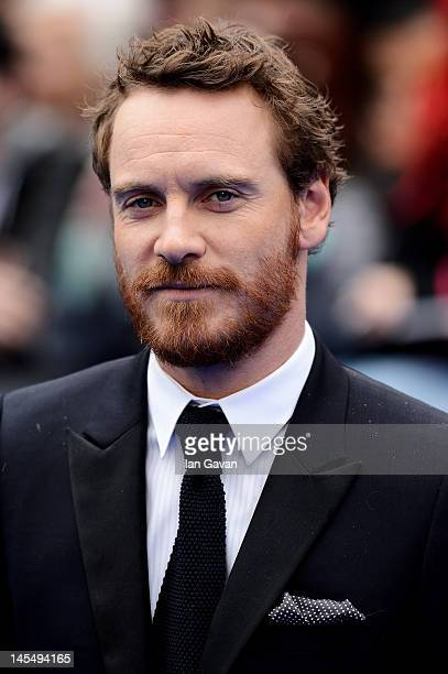 Actor Michael Fassbender attends the world premiere of 'Prometheus' at the Empire Leicester Square on May 31 2012 in London England