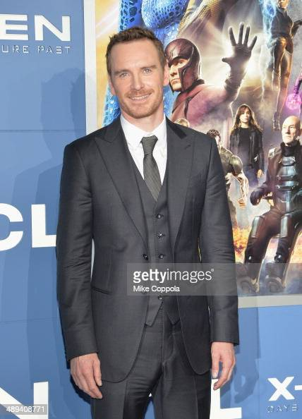 Actor Michael Fassbender attends the 'XMen Days Of Future Past' world premiere at Jacob Javits Center on May 10 2014 in New York City