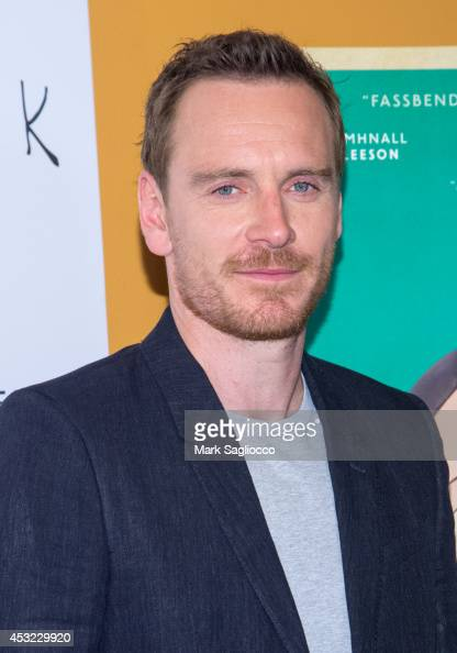 Actor Michael Fassbender attends the'Frank' premiere at the Sunshine Landmark on August 5 2014 in New York City