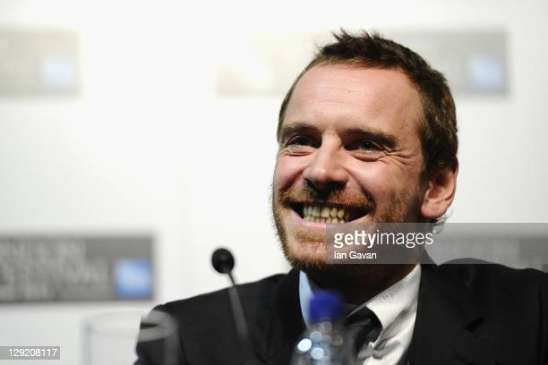 Actor Michael Fassbender attensd the 'Shame' press conference during the 55th BFI London Film Festival at the Vue West End on October 14 2011 in...