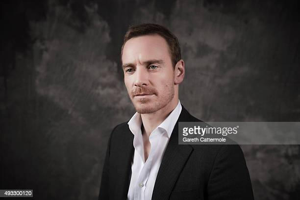 Actor Michael Fassbender is photographed during the BFI London Film Festival at The Mayfair Hotel on October 18 2015 in London England
