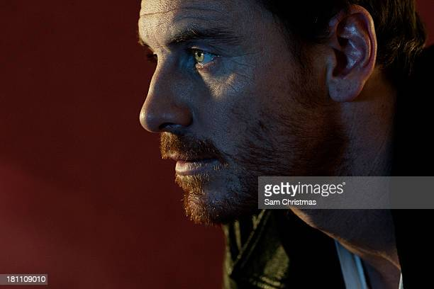 Actor Michael Fassbender is photographed for Little White Lies on October 13 2011 in London England
