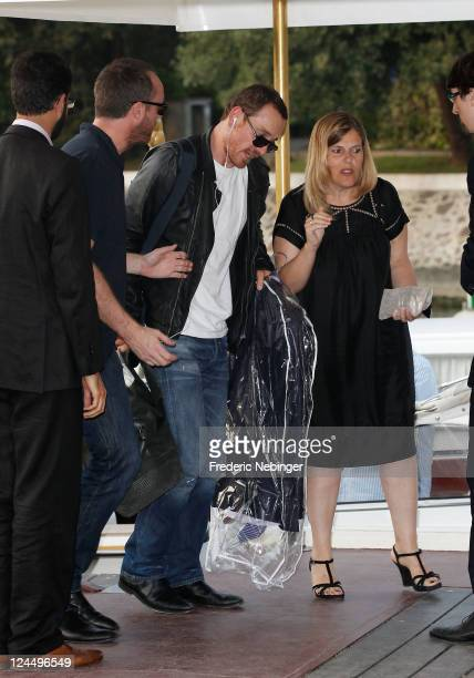 Actor Michael Fassbender is seen arriving for the awards ceremony during the 68th Venice Film Festival on September 10 2011 in Venice Italy