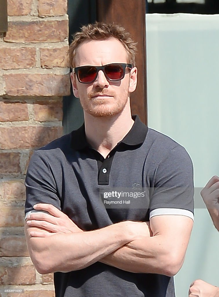 Actor Michael Fassbender is seen in SoHo on August 8 2014 in New York City