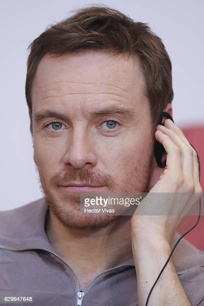 Actor Michael Fassbender looks on during the photocall and press conference of Assassin´s Creed film at Four Seasons Hotel on December 15 2016 in...