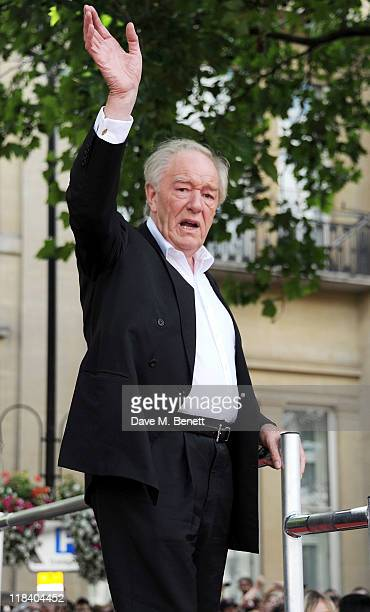 Actor Michael Gambon arrives at the World Premiere of 'Harry Potter And The Deathly Hallows Part 2' in Trafalgar Square on July 7 2011 in London...