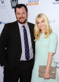 Actor Michael Gladis and actress Beth Behrs attend the Backstage at The Geffen fundraiser at Geffen Playhouse on June 4 2012 in Los Angeles California