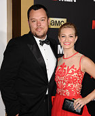 Actor Michael Gladis and actress Beth Behrs attend the 'Mad Men' Black Red Ball at Dorothy Chandler Pavilion on March 25 2015 in Los Angeles...