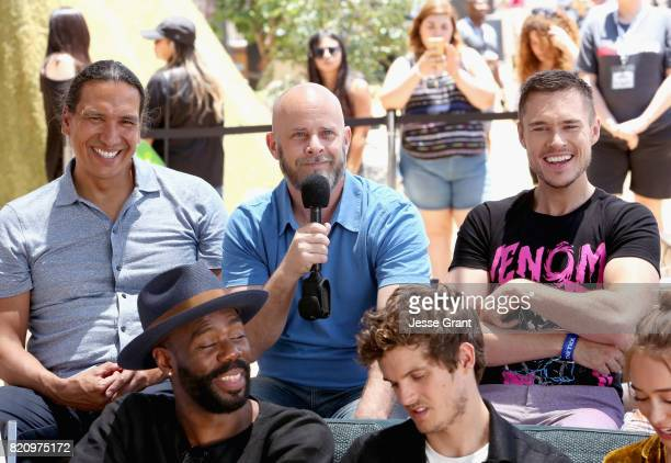Actor Michael Greyeyes executive producer Dave Erickson actors Sam Underwood Colman Domingo Daniel Sharman Alycia DebnamCarey at the 'Fear the...