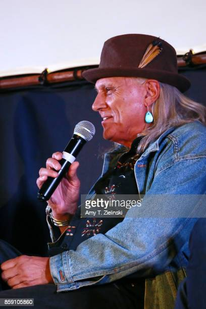 Actor Michael Horse answer questions on stage during the Twin Peaks UK Festival 2017 at Hornsey Town Hall Arts Centre on October 8 2017 in London...