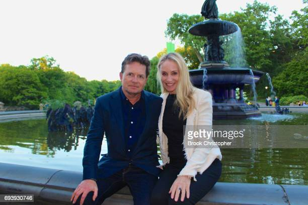 Actor Michael J Fox and Tracy Pollan attend Central Park Conservancy Taste Of Summer Benefit in Central Park on June 7 2017 in New York City