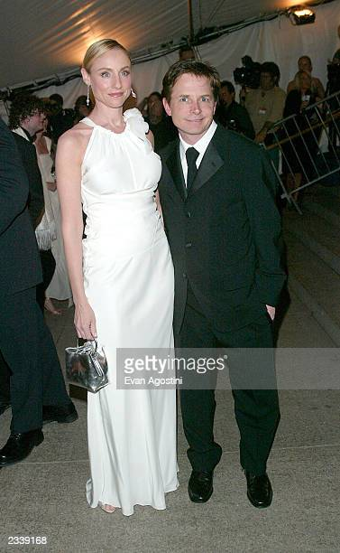 Actor Michael J Fox and wife actress Tracy Pollan arrive at the Metropolitan Museum of Art Costume Institute Benefit Gala sponsored by Gucci April 28...