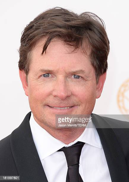 Actor Michael J Fox arrives at the 65th Annual Primetime Emmy Awards held at Nokia Theatre LA Live on September 22 2013 in Los Angeles California