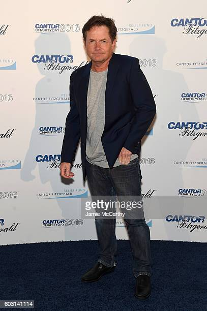 Actor Michael J Fox attends the Annual Charity Day hosted by Cantor Fitzgerald BGC and GFI at Cantor Fitzgerald on September 12 2016 in New York City