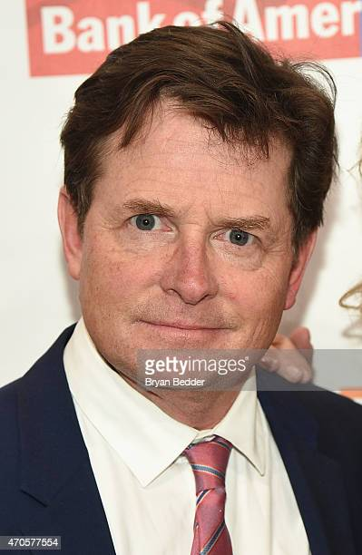 Actor Michael J Fox attends the Food Bank For New York City Can Do Awards Dinner Gala at Cipriani Wall Street on April 21 2015 in New York City