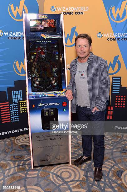 Actor Michael J Fox attends Wizard World Comic Con Chicago 2016 Day 3 at Donald E Stephens Convention Center on August 20 2016 in Rosemont Illinois
