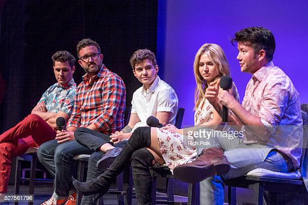 Actor Michael J Willett producer Carter Covington actor Elliot Fletcher actor Rita Volk and director Silas Howard answer questions on stage at MTV's...