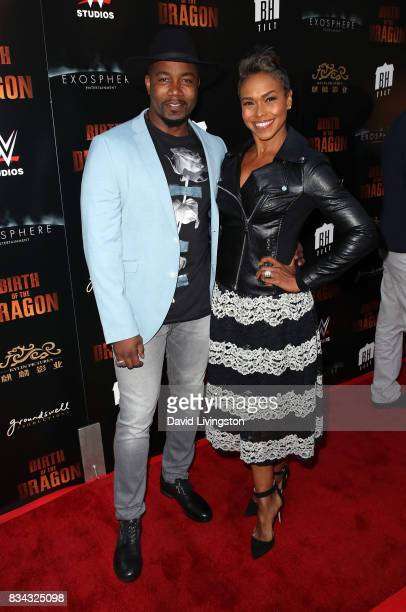 Actor Michael Jai White and wife actress Gillian Iliana Waters attend the premiere of WWE Studios' 'Birth of the Dragon' at ArcLight Hollywood on...