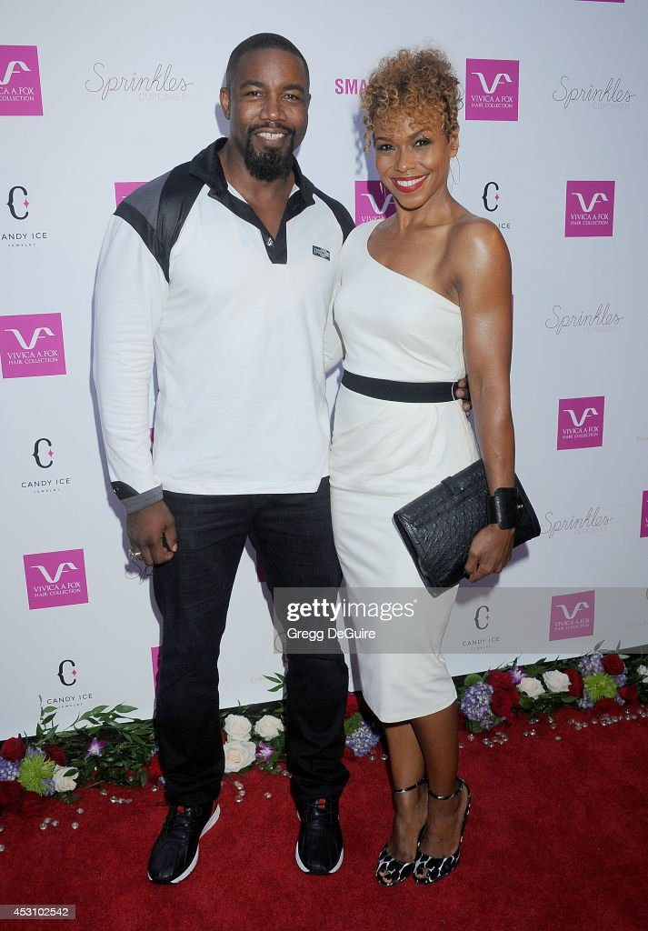 Actor Michael Jai White arrives at the Vivica A. Fox 50th Birthday party at Philippe Chow on August 2, 2014 in Beverly Hills, California.
