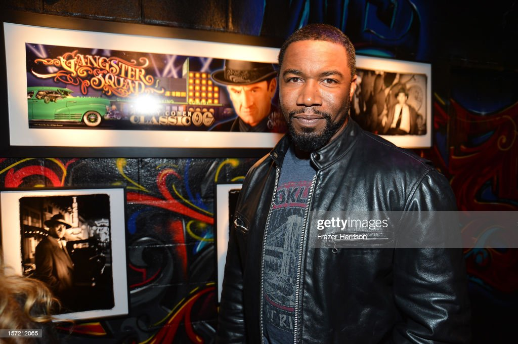 Actor Michael Jai White attends SA Studios and Mister Cartoon VIP Screening and After Party of Warner Brothers Pictures 'Gangster Squad' at SA Studios on November 29, 2012 in Los Angeles, California.
