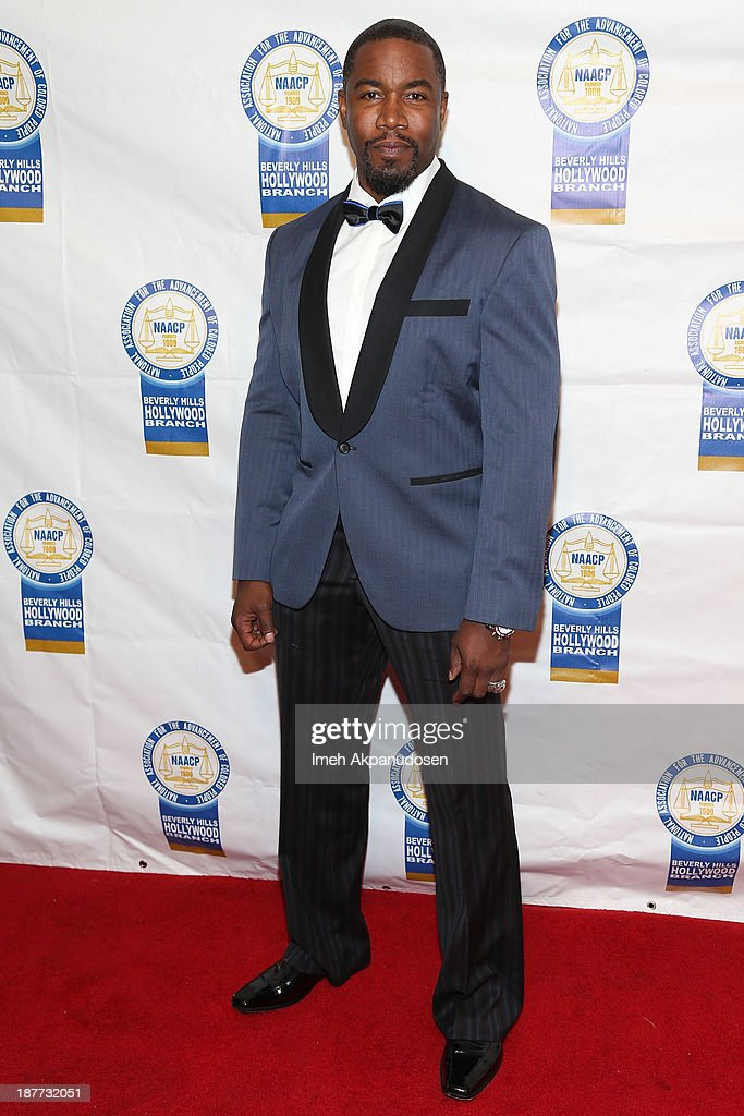 Actor <a gi-track='captionPersonalityLinkClicked' href=/galleries/search?phrase=Michael+Jai+White&family=editorial&specificpeople=1194842 ng-click='$event.stopPropagation()'>Michael Jai White</a> attends the 23rd Annual NAACP Theatre Awards at Saban Theatre on November 11, 2013 in Beverly Hills, California.