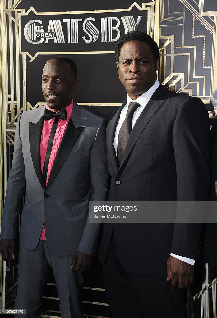 Actor <a gi-track='captionPersonalityLinkClicked' href=/galleries/search?phrase=Michael+K.+Williams&family=editorial&specificpeople=855658 ng-click='$event.stopPropagation()'>Michael K. Williams</a> and actor Jeymes Samuel attends the 'The Great Gatsby' world premiere at Avery Fisher Hall at Lincoln Center for the Performing Arts on May 1, 2013 in New York City.