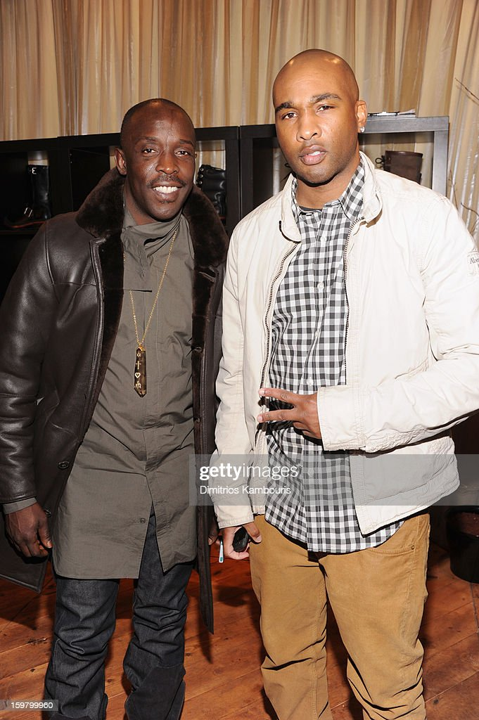 Actor <a gi-track='captionPersonalityLinkClicked' href=/galleries/search?phrase=Michael+K.+Williams&family=editorial&specificpeople=855658 ng-click='$event.stopPropagation()'>Michael K. Williams</a> (L) and producer Datari Turner attends Day 3 of Village At The Lift 2013 on January 20, 2013 in Park City, Utah.