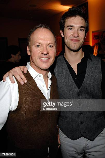 Actor Michael Keaton and his son Musician Sean Keaton attend 'The Merry Gentlemen' Cocktail Party featuring a performance by Hatch at the Hollywood...