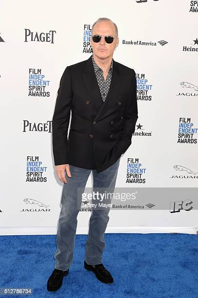 Actor Michael Keaton arrives at the 2016 Film Independent Spirit Awards on February 27 2016 in Santa Monica California