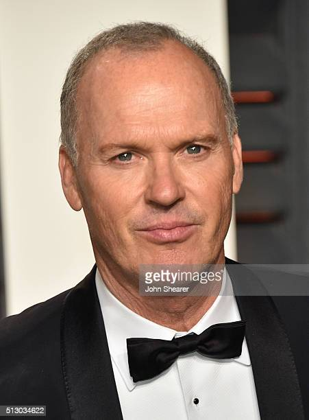 Actor Michael Keaton arrives at the 2016 Vanity Fair Oscar Party Hosted By Graydon Carter at Wallis Annenberg Center for the Performing Arts on...