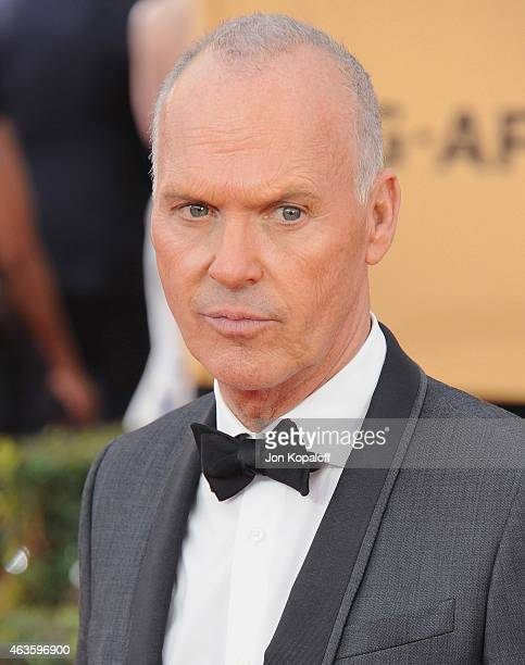 Actor Michael Keaton arrives at the 21st Annual Screen Actors Guild Awards at The Shrine Auditorium on January 25 2015 in Los Angeles California