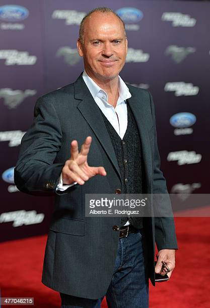 Actor Michael Keaton arrives for the premiere of DreamWorks Pictures' 'Need For Speed' at TCL Chinese Theatre on March 6 2014 in Hollywood California