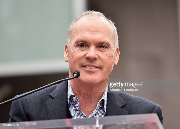 Actor Michael Keaton attends a ceremony honoring Ron Howard with the 2568th Star on The Hollywood Walk of Fame on December 10 2015 in Hollywood...