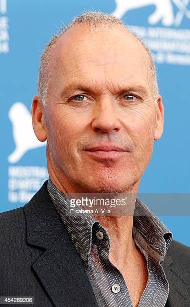 Actor Michael Keaton attends 'Birdman' Photocall during the 71st Venice Film Festival on August 27 2014 in Venice Italy