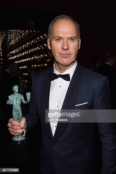 Actor Michael Keaton attends People and EIF's Annual Screen Actors Guild Awards Gala at The Shrine Auditorium on January 30 2016 in Los Angeles...