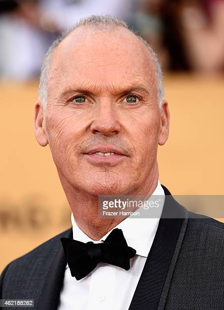 Actor Michael Keaton attends the 21st Annual Screen Actors Guild Awards at The Shrine Auditorium on January 25 2015 in Los Angeles California