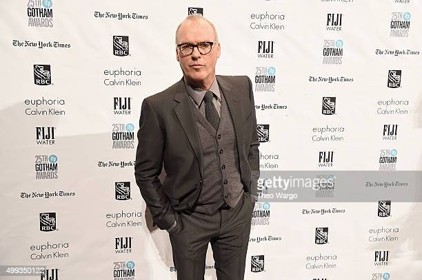 Actor Michael Keaton attends the 25th Annual Gotham Independent Film Awards at Cipriani Wall Street on November 30 2015 in New York City