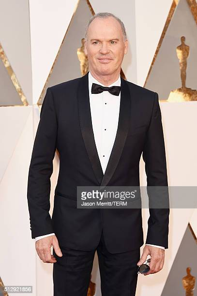 Actor Michael Keaton attends the 88th Annual Academy Awards at Hollywood Highland Center on February 28 2016 in Hollywood California