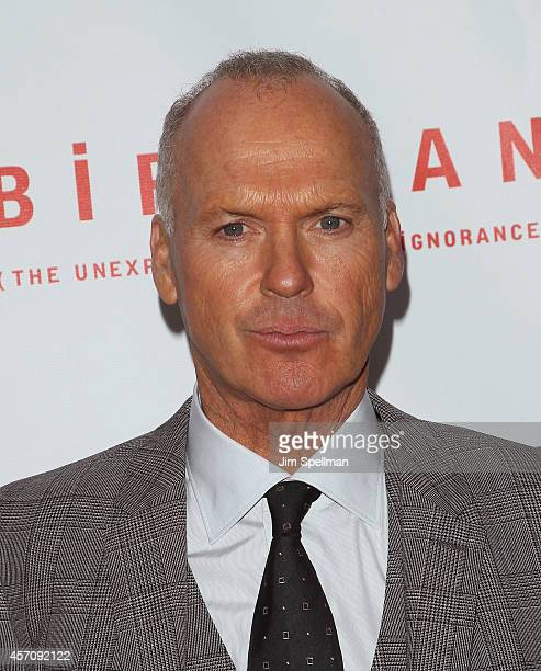 Actor Michael Keaton attends the Closing Night Gala Presentation Of 'Birdman Or The Unexpected Virtue Of Ignorance' during the 52nd New York Film...