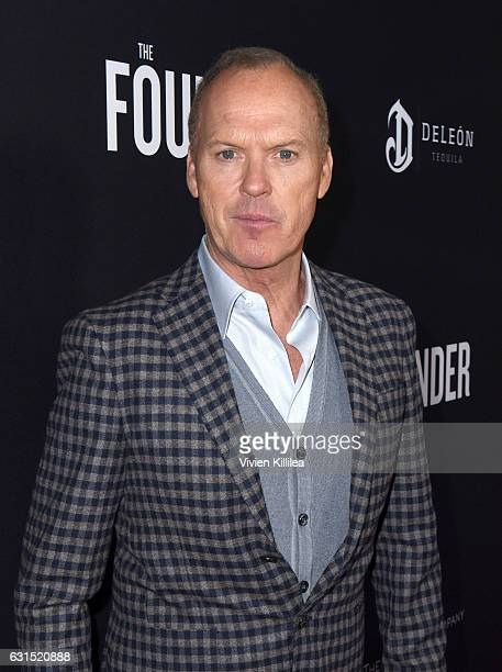 Actor Michael Keaton attends 'The Founder' US Premiere Presented By DeLeon Tequila on January 11 2017 in Los Angeles California