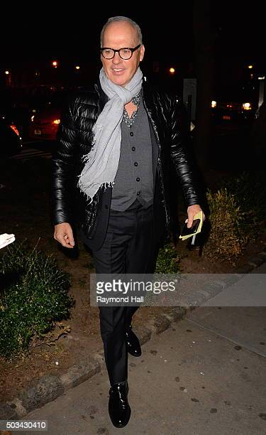 Actor Michael Keaton is seen arriving at 'TAO Downtown' on January 4 2016 in New York City