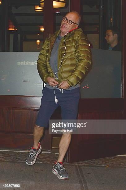 Actor Michael Keaton is seen in Soho on December 1 2014 in New York City