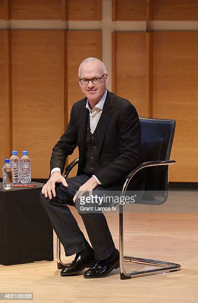 Actor Michael Keaton speaks at TimesTalks Presents an Evening with Michael Keaton at Merkin Concert Hall on February 9 2015 in New York City