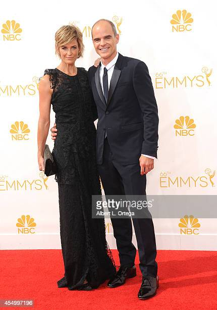 Actor Michael Kelly and Karyn Kelly arrive for the 66th Annual Primetime Emmy Awards held at Nokia Theatre LA Live on August 25 2014 in Los Angeles...