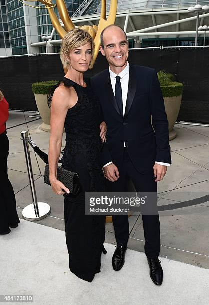 Actor Michael Kelly and Karyn Kelly attend the 66th Annual Primetime Emmy Awards held at Nokia Theatre LA Live on August 25 2014 in Los Angeles...