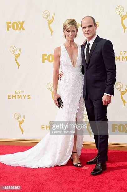 Actor Michael Kelly and Karyn Kelly attend the 67th Annual Primetime Emmy Awards at Microsoft Theater on September 20 2015 in Los Angeles California