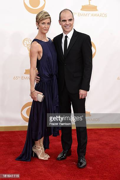 Actor Michael Kelly and Karyn Mendel arrive at the 65th Annual Primetime Emmy Awards held at Nokia Theatre LA Live on September 22 2013 in Los...