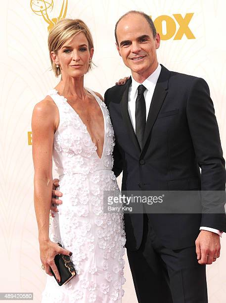 Actor Michael Kelly and wife Karyn Kelly arrive at the 67th Annual Primetime Emmy Awards at the Microsoft Theater on September 20 2015 in Los Angeles...