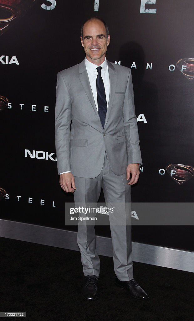 Actor Michael Kelly attends the 'Man Of Steel' World Premiere at Alice Tully Hall at Lincoln Center on June 10, 2013 in New York City.